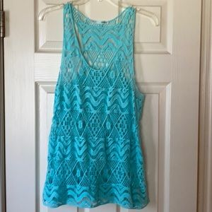 Maurices lace tank top
